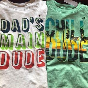 4T T-shirt bundle NWT
